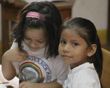 Students at a CBM supported deaf school ARCA in Bolivia.