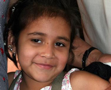 A patient at CBM supported hospital Aprecia in Santa Cruz.