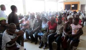 General meeting of all members of self-help groups at the Hospital Sainte Croix in Leogane, Haiti, September 2012
