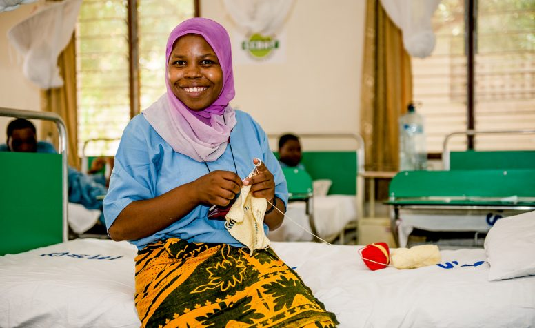 Mariam, smiling, after treatment for obstetric fistula in Tanzania