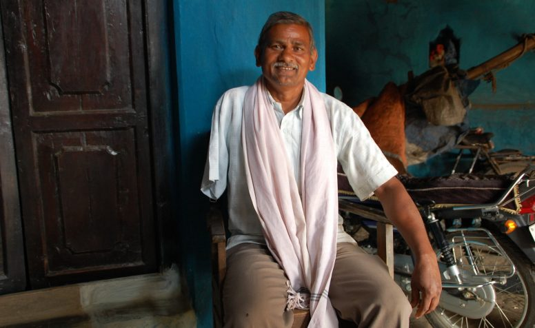 Yahraj lost his right arm in an electrical accident in India.