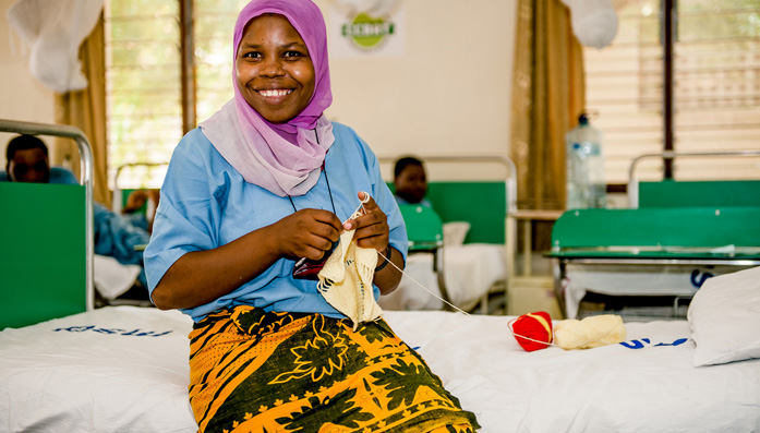 Mariam at CCBRT in Tanzania as she awaits surgery for Fistula. CCBRT