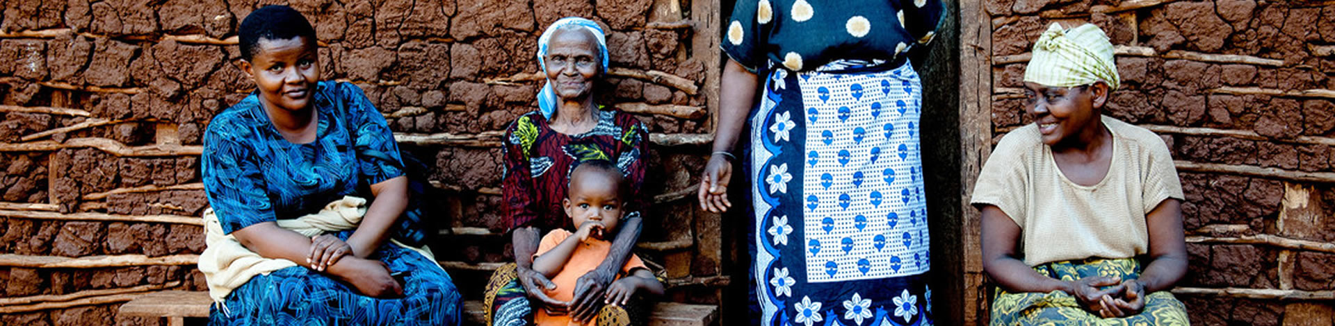 Remenziana with her family, after her cataract operation.