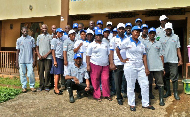 Ebola Response Staff of CBM partner UMC Eye Hospital in Freetown, Sierra Leone.