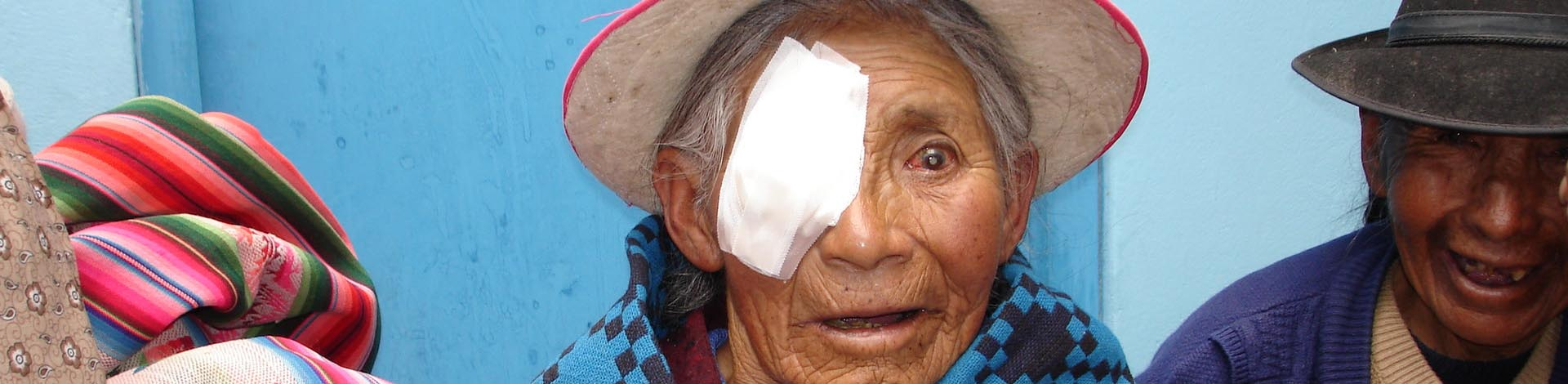 Benita smiling after surgery for cataracts.