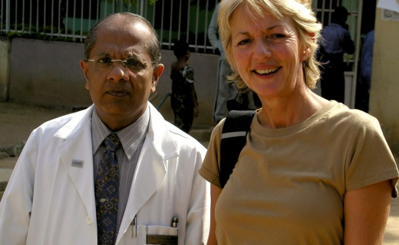 Trudie Goodwin with Dr in Nigeria