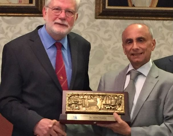 Adrian Hopkins awarded the Prince Abdulaziz Bin Ahmad Al Saud Prevention of Blindness Award.