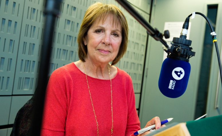 Penelope Wilton recording a Radio 4 appeal for CBM