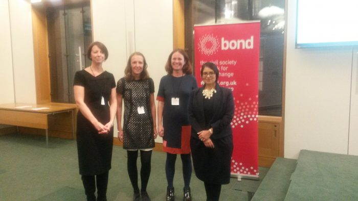 ecretary of State Priti Patel at the Bond Disability and Development Group's event at the Houses of Parliament on Monday 5th December.