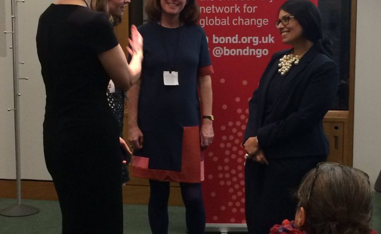 Secretary of State Priti Patel at the Bond Disability and Development Group's event at the Houses of Parliament on Monday 5th December.