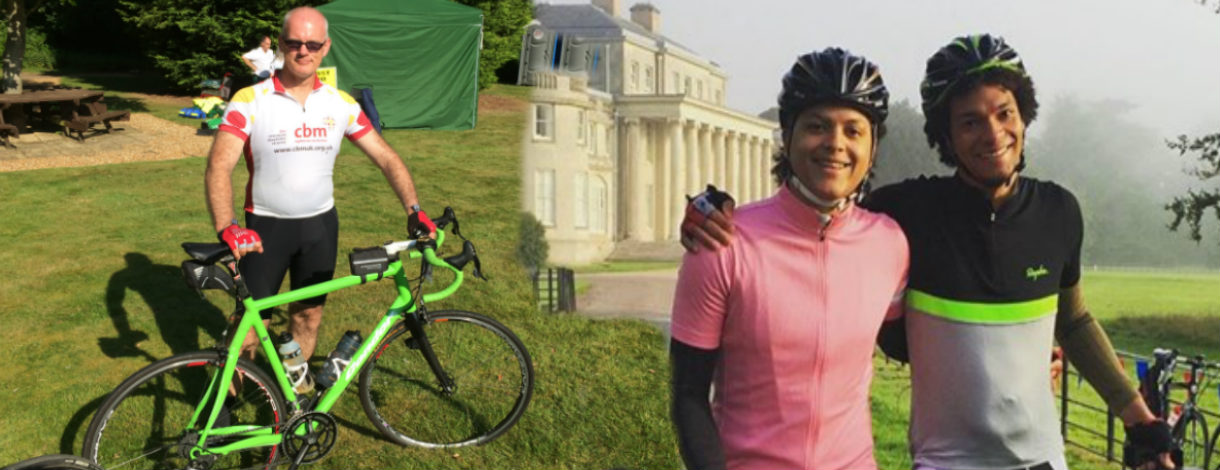 Rev Dr Alasdair Coles and Caswell brothers, Harry and Leslie to cycle 100 miles to support CBM's work.