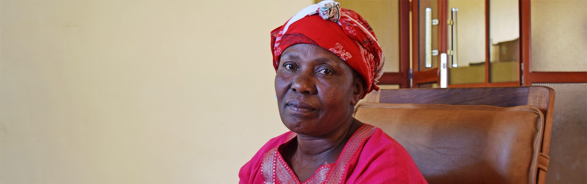 Eva is from Tanzania and is suffering from glaucoma