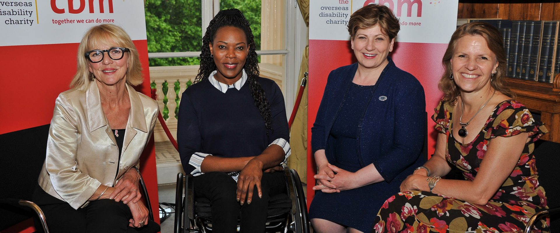 CBM Champions Trudie Goodwin and Anne Wafula-Strike with Rt. Hon. Emily Thornberry MP and CBM UK Chief Executive Kirsty Smith