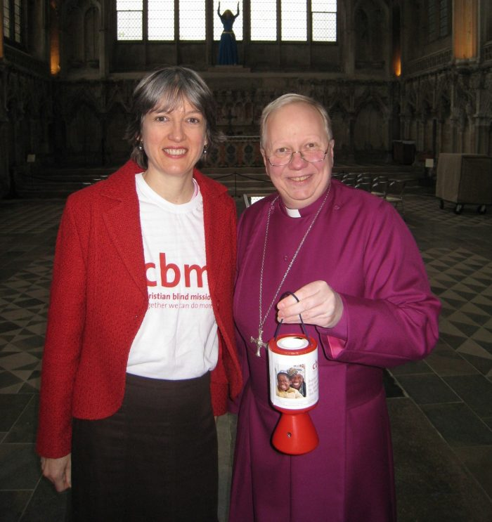 Gill Godber with The Bishop of Huntingdon, Dr David Thomson