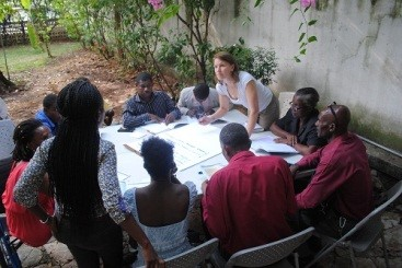 Kirsty meets with representatives of Haitian Disabled People's Organisations – involving people with disabilities in planning and delivering humanitarian response is crucial