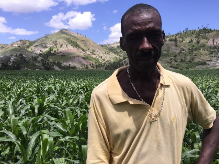 William had no support from the Government or NGOs until CBM arrived in his village in Haiti