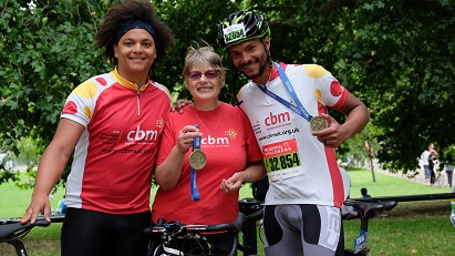 Prudential cycle ride for CBM UK.