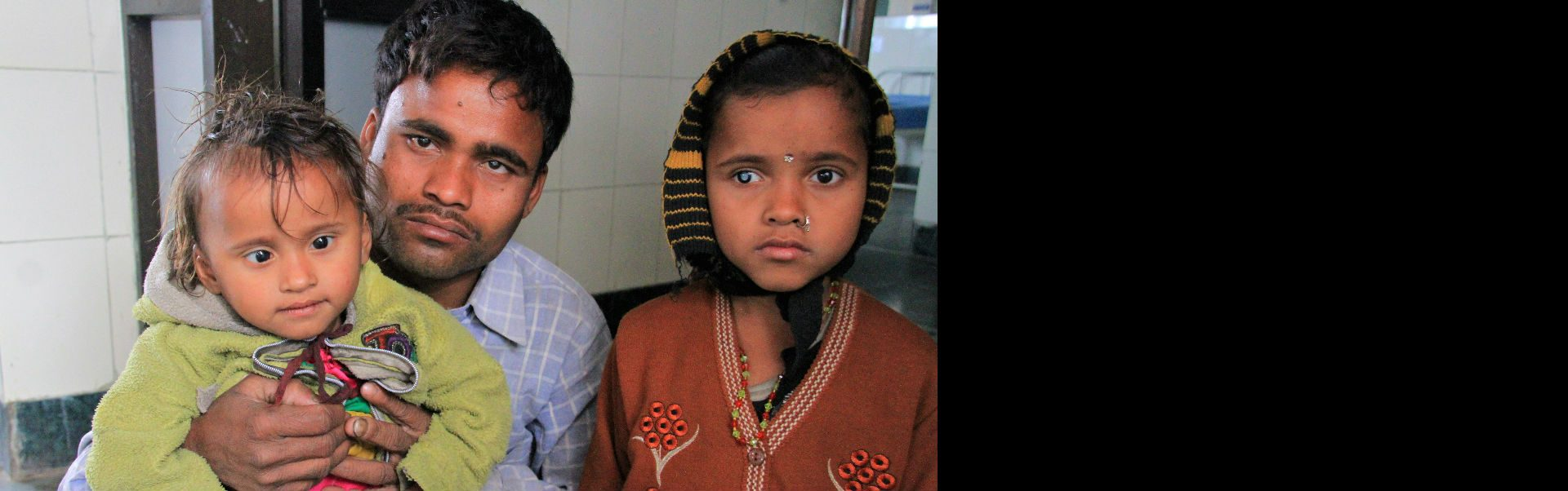 Uttam and his daughters who live in Nepal have cataracts and need sight-saving surgery.