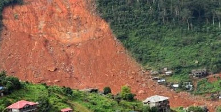 mudslide in Freetown