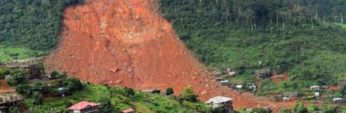 mudslide in Freetown