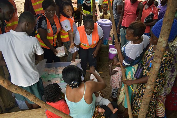 Relief services - Sierra Leone mudslide emergency