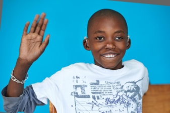 Balika from Zambia has a hole in his heart, cataract in one eye and hearing problems.