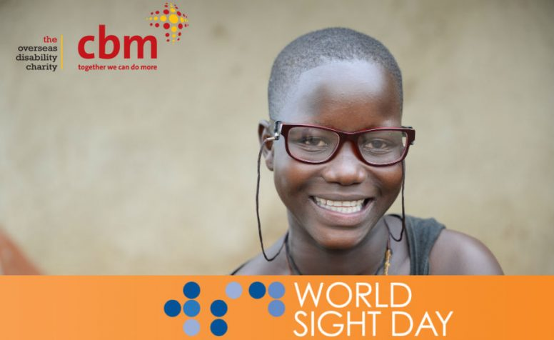 Smiling girl with glasses - World Sight Day banner