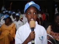 Child speaks at awareness event