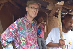 Dr Sellar on a visit to CBM partner hospital in Tanzania.