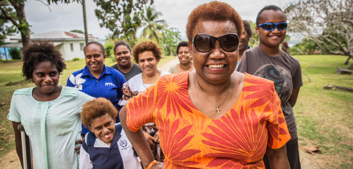 Nelly, the National Coordinator of Vanuatu Disability Promotion and Advocacy Association (VDPA)