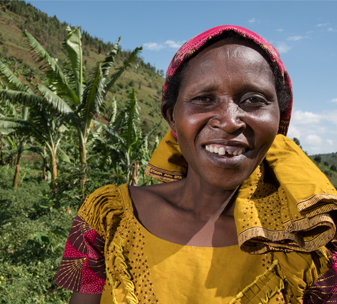Jeanne has turned her life around with help from a CBM programme in Rwanda.