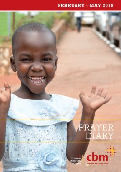 Front cover of February-May 2018 Prayer Diary