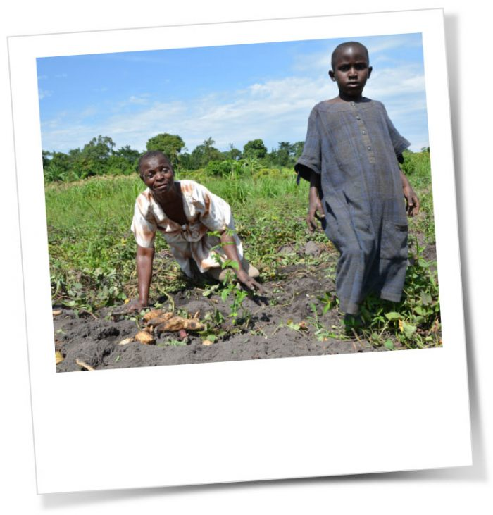 Lovinsa love to garden and needs to provide for her grandchildren