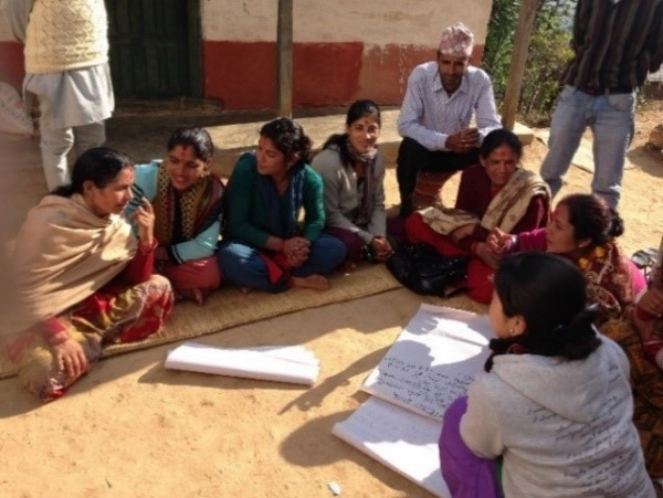 A self-help group in Nepal, for people with mental health problems following the 2015 earthquake
