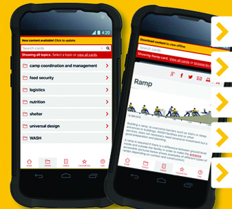 HHOT App launch poster, with phones showing the app in use and instructions on how to use it.