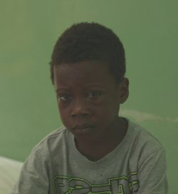 5-year old Samuel, from Nigeria, has cataracts in both eyes.