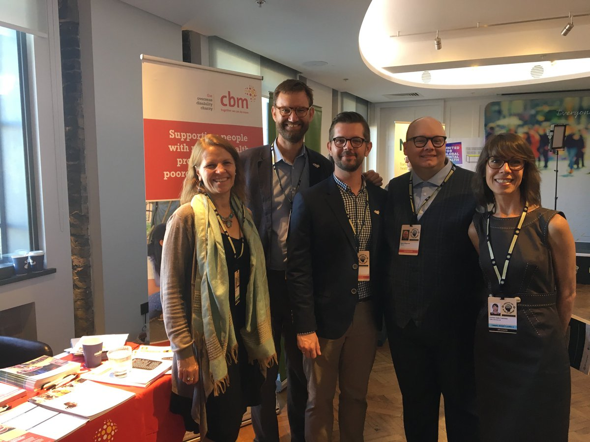 CBM's Kirsty Smith, Julian Eaton, Ben Adams, Martyn Illingworth and Carmen Valle.