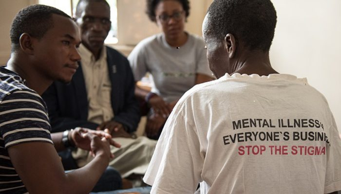 Peer support group from CBM partner the Mental Health Users and Carers Association (MeHUCA) in Malawi.
