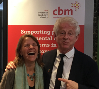 Kirsty Smith and Richard Curtis at the Global Mental Health Summit