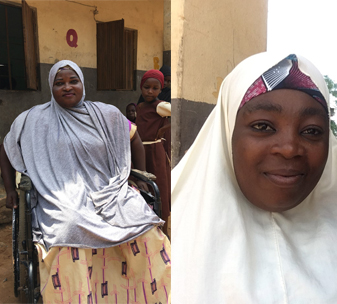 Rabi (left) and Rukaya (right) from Nigeria.