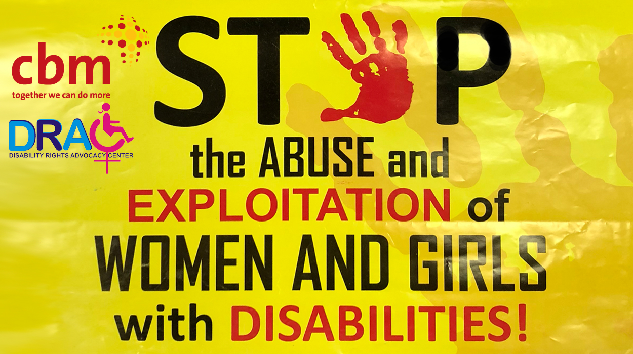 Violence against women and girls with disabilities poster from Disability Rights Advocacy Centre (DRAC).