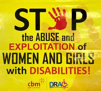 Violence against women and girls with disabilities poster fromDisability Rights Advocacy Centre (DRAC).