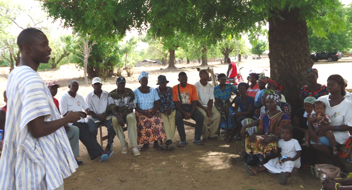 A self-help group in northern Ghana, where members found that by working together they were able to successfully call for improvement in provision of local health services and improve their livelihoods.