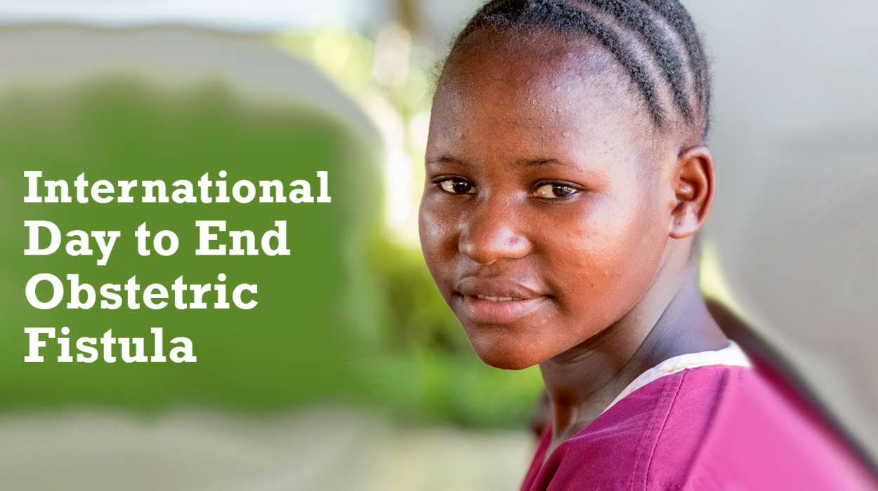 Victoria from Tanzania and words reading: International Day to End Obstetric Fistula