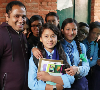 Children at Buddha School, Nepal, have been involved in psychosocial activities with their counsellors since the earthquake in 2015.
