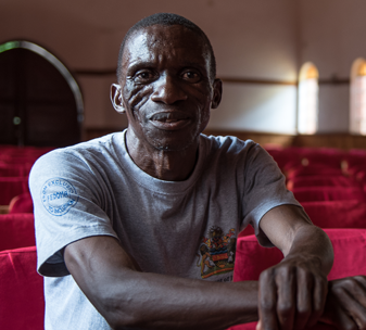 Mr Thom at his church in Blantyre, Malawi. © CBM/Eshuchi