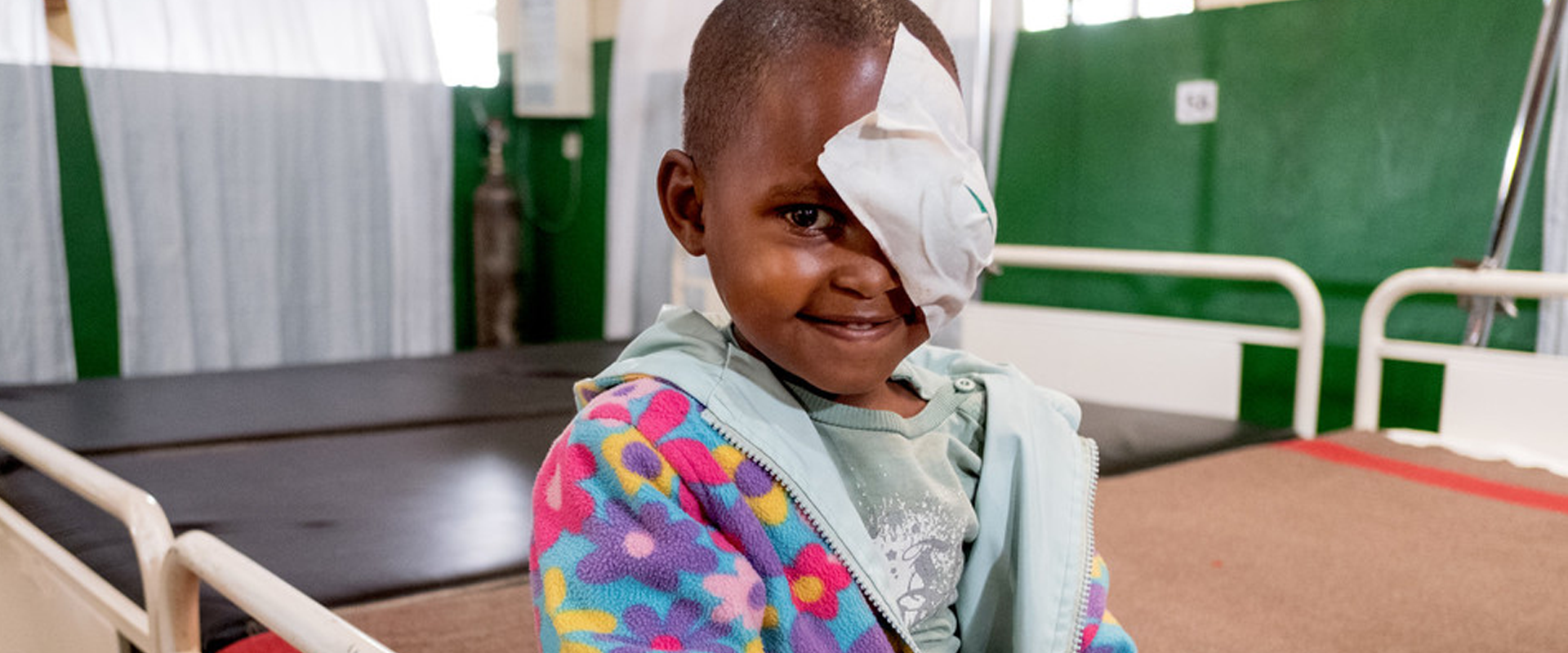 Charlotte from Rwanda has had successful cataract surgery at a CBM-supported hospital