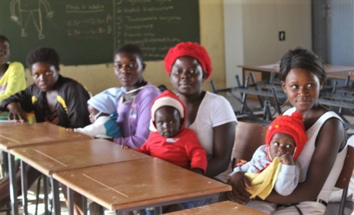Celebrations taking place at the launch of the Community Based Learning Hubs in seven rural districts in Zimbabwe, supported by the Ministry of Primary & Secondary Education in Zimbabwe. ©Plan International Zimbabwe