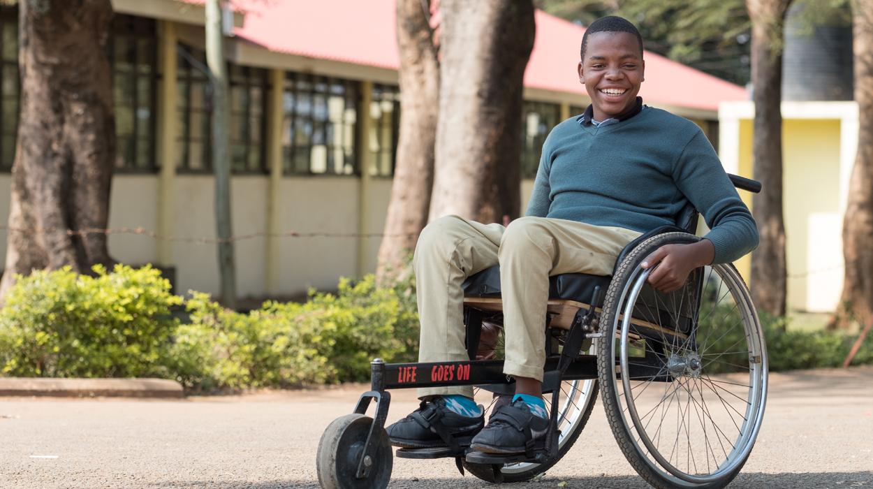 20-year-old Joseph from Tanzania