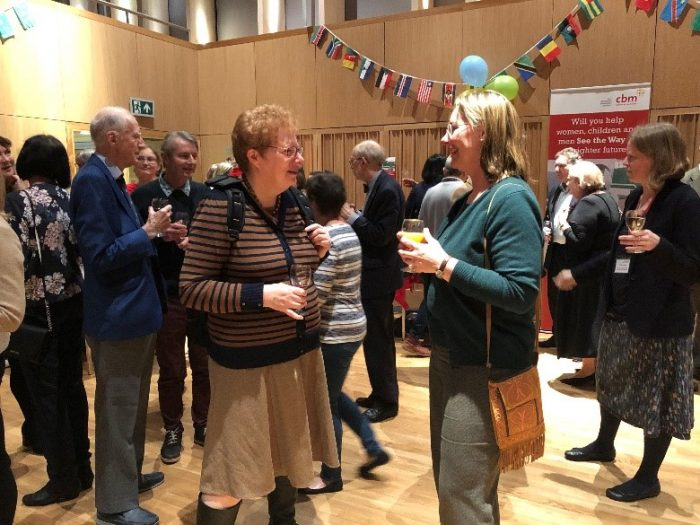 Supporters at CBM's See the Way launch event in Cambridge